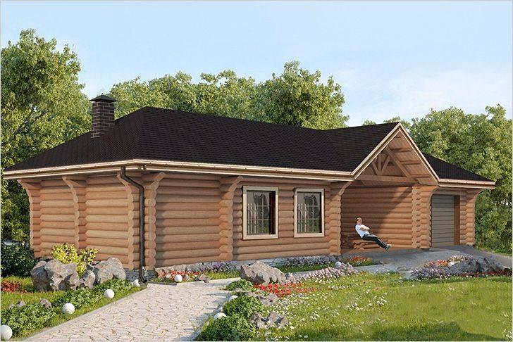 Дом с баней под одной крышей: подборка проектов