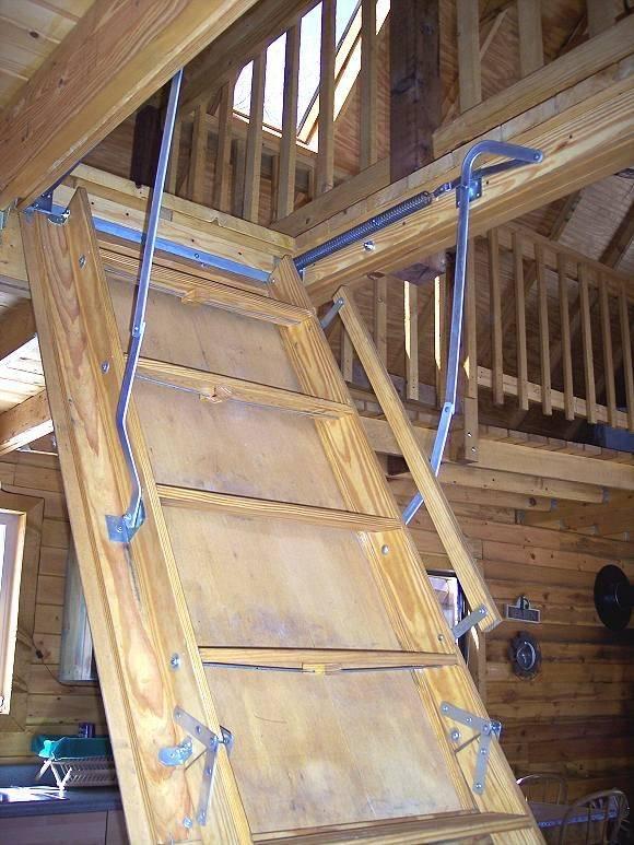 Делаем лестницу на мансардный этаж самостоятельно