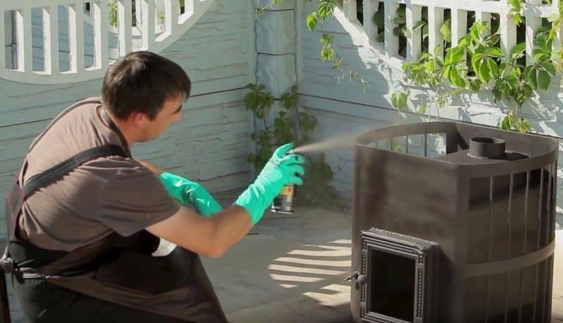 Чем покрасить печь из кирпича в доме самостоятельно: пошаговая инструкция