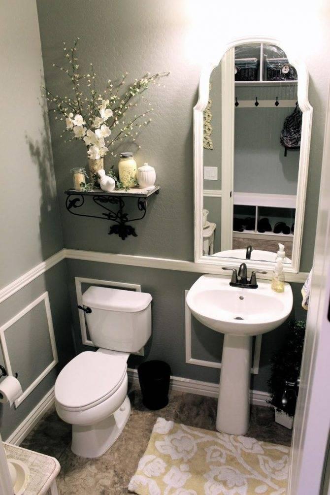 Дизайн туалета маленького размера: 46 фото идей и декоративных решений