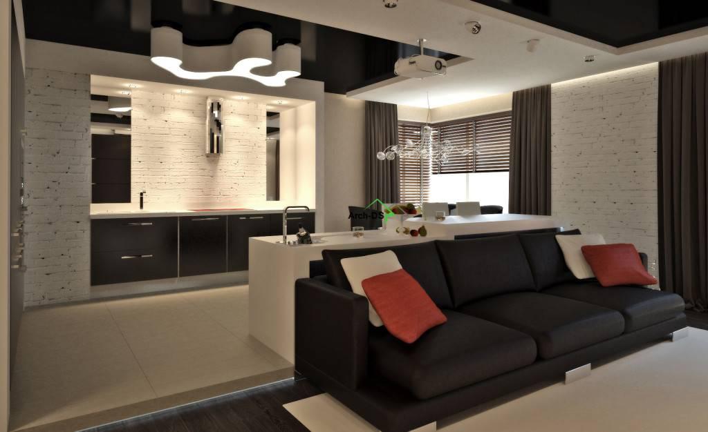 Кухня гостиная — 150 фото идеально совмещенных интерьеров кухни и гостиной