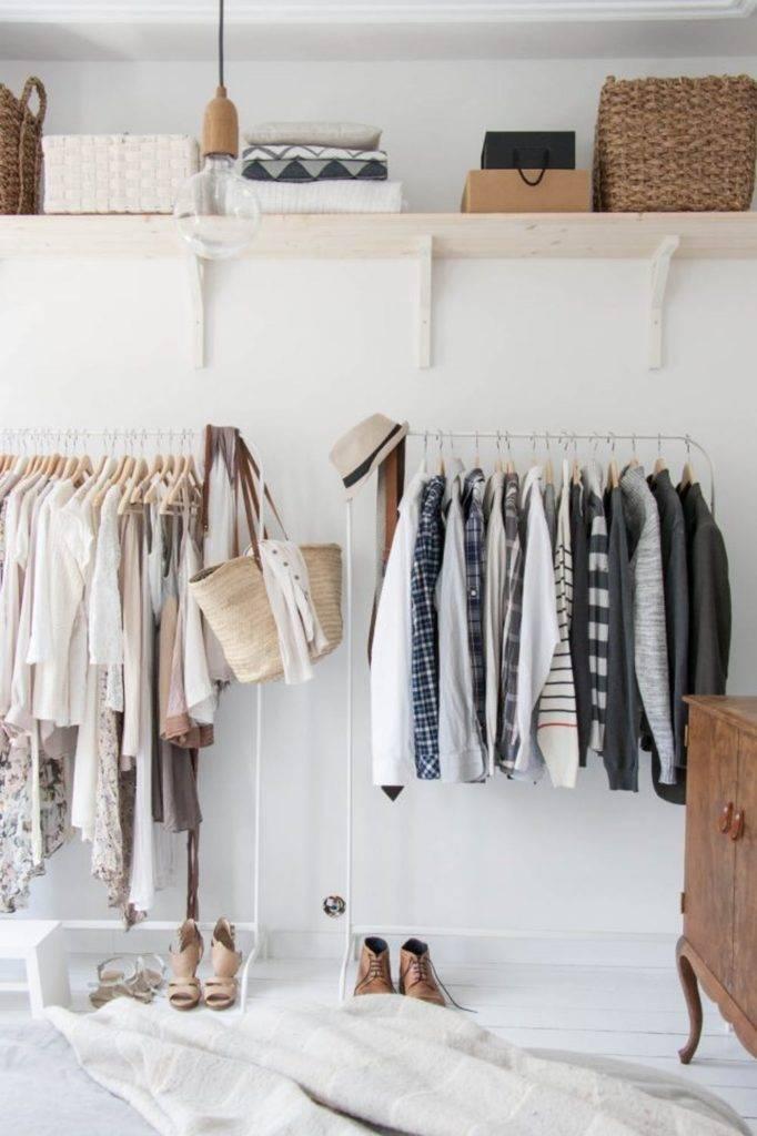 Хранение вещей без громоздкого шкафа - 50 идей