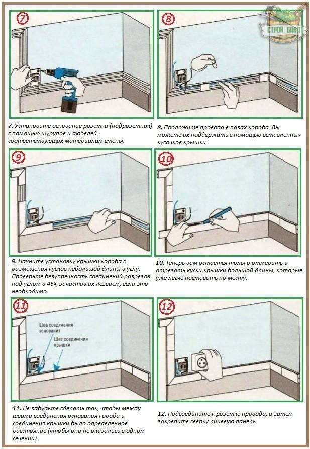 Как проложить электропроводку в кабель канале