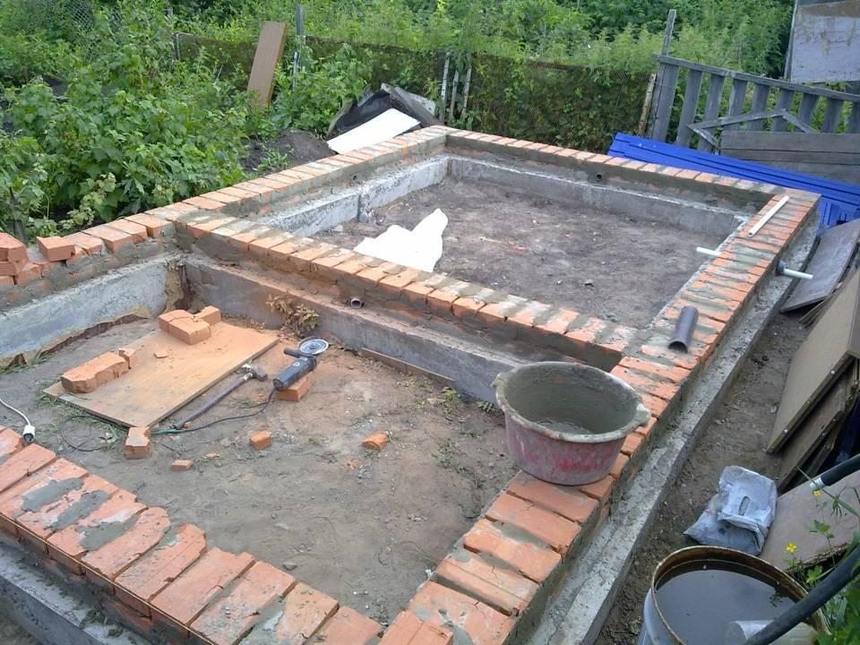 Баня из кирпича (104 фото): проекты кирпичной бани, плюсы и минусы, пошаговая инструкция изготовления своими руками с печью-каменкой
