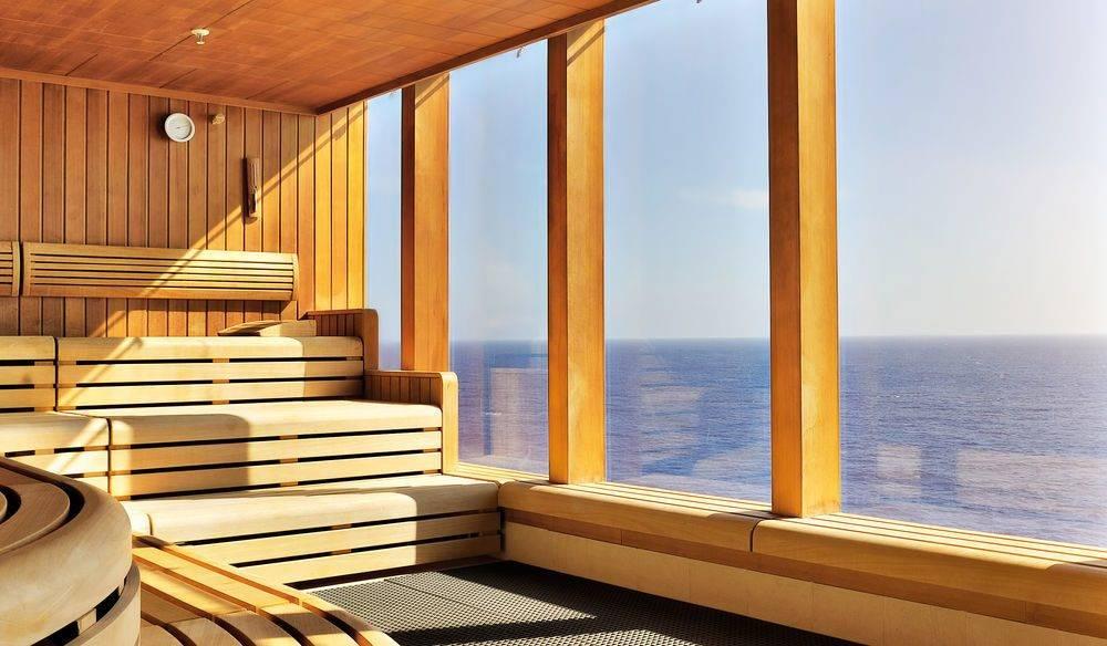 Баня с панорамными окнами