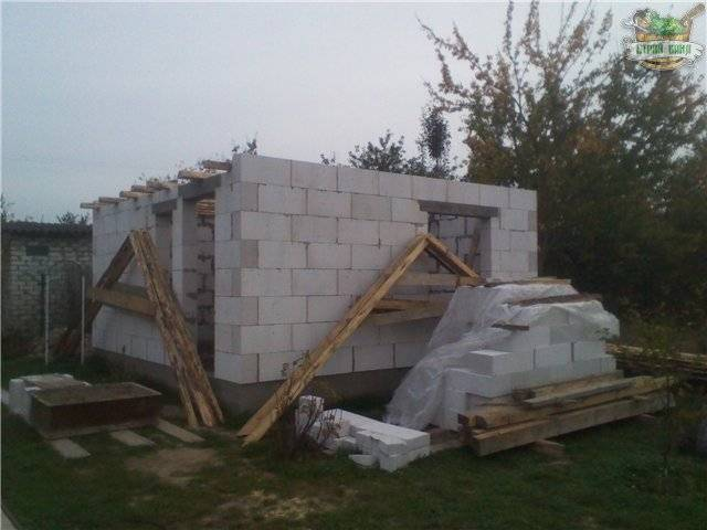 Баня из газосиликатных блоков строительство и отделка на примере небольшой частной бани
