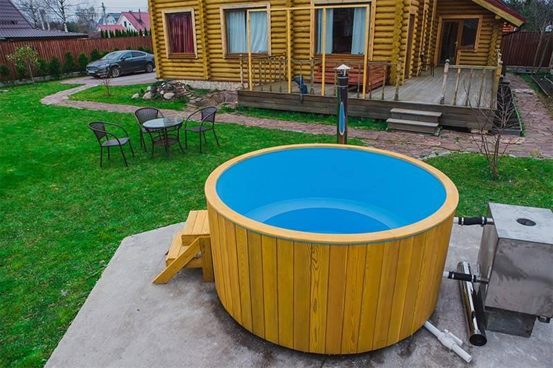 Купель с подогревом — водные процедуры на улице в любое время года!